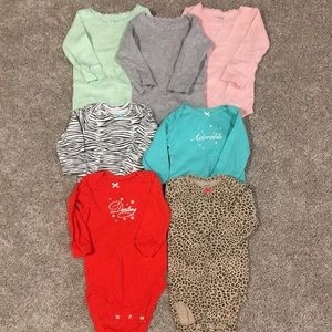 Bundle 7 Carters onesie bodysuits